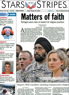 Jan. 24, 2014 #military #newspaper #frontpage