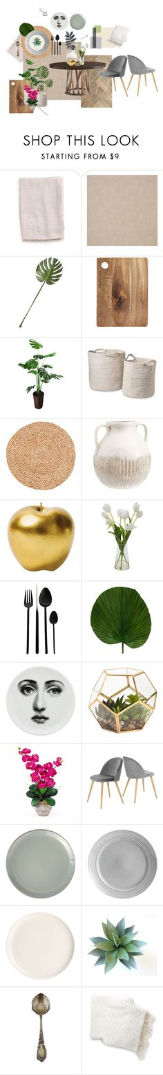 """Untitled #3"" by faty-h-k on Polyvore featuring interior, interiors, interior design, home, home decor, interior decorating, CB2, Pottery Barn, Bitossi and A by Amara"