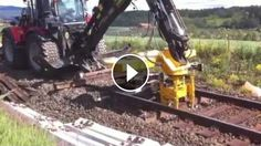 That's one BADASS Machine! King of the Railroad!! - What a good job he's doing! That is a neat machine. Sleeper Replacer machine is working smart and efficiently tha