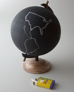 """Large """"Chalkboard"""" Globe by Jamie Young at Horchow."""