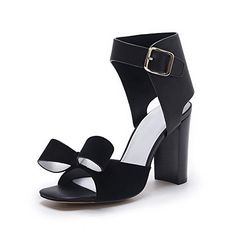 04010e41c6a1ee MINIVOG Womens Square Anklestrap Sandal Shoes Black 75    Check out this  great product.