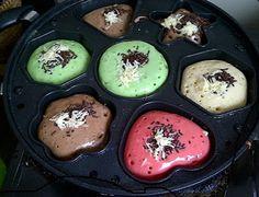 ... kue cubit green tea,cara membuat kue cubit,resep kue cubit,kue cubit