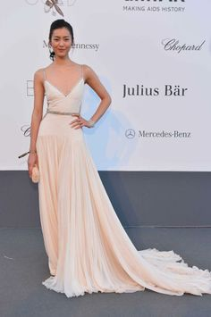 Liu Wen donned Roberto Cavalli and Chopard one last time at Cannes 2013