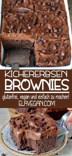 These healthy chickpea brownies with a sweet potato cream are incredible . - These healthy chickpea brownies with a sweet potato cream are incredibly delicious. They are vegan, - Brownie Sans Gluten, Dessert Sans Gluten, Gluten Free Brownies, Gluten Free Desserts, Cookie Vegan, Chickpea Brownies, Desserts Sains, Vegan Treats, Healthy Vegan Brownies