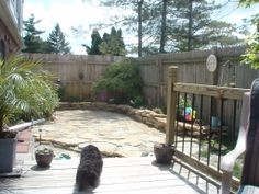 5.  2010 - My Backyard Project - Added deck rails- you'd never guess this is behind the fence.