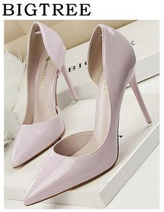 c8fab728ff8e BIGTREE Multiple Colour Pumps Women s Shoes 2018 Summer 10.5 cm Korean  Version Simple Shallow Mouth Hollow High-heeled Shoes. Yesterday s price   US  30.00 ...