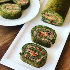 Pionono de espinaca - Green Vivant Quiche Lorraine, Canapes, Avocado Toast, Keto, Healthy Recipes, Cooking, Breakfast, Green, Salads