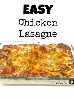 Lasagne on Pinterest | Lasagna, Chicken Lasagna and Lasagne Recipes