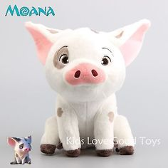 "2016 Moive Moana Pua The Pet Pig Plush Doll Soft Stuffed Animal Toy 8"" Teddy in Toys & Hobbies, TV, Movie & Character Toys, Other TV/Movie Character Toys 