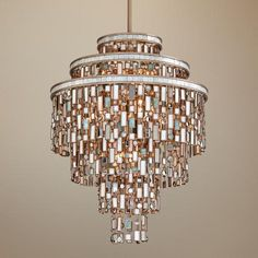 "Dolcetti Silver 24"" Wide Corbett Pendant Light...amazingly beautiful!!"