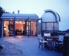 modern house observatory dome architectural concept << Great idea for our next home! Studios Architecture, Modern Architecture, Astronomical Observatory, Slider Door, Modern Patio, Amazing Buildings, Small House Design, Stargazing, Victorian Homes