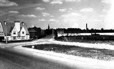 Sint-Andries Brugge - Bruges Zicht van de Magdalenastraat vanuit de Torhoutse Steenweg met de laatste serres van het bekende 'Etablissements Horticoles Sander & Fils' 1955
