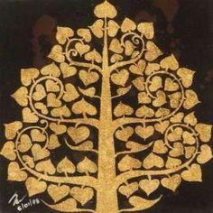 BUDDHA BODHI TREE Traditional Thai Painting NOVICA Drawings