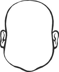Actividades para niños preescolar, primaria e inicial. Plantillas con caras de personas para colorear. Caras. 17