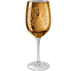 Artland Brocade Wine Glass in Gold (Set of 4)