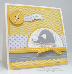 LeAnne Pugliese WeeInklings DS111 Nursery Necessities Itty Bitty Banners Baby Card Stampin Up