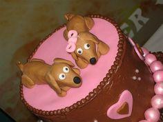 Wiener dog cake