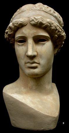 Greek Head of the Lemnia Athena Sculpture Bust by ArtofHistory Minerva Goddess, Greek Goddess Of Wisdom, Athena Goddess, Goddess Of Love, Egyptian Goddess, Plaster Sculpture, Sculpture Art, Sculptures, Ancient Greek Sculpture