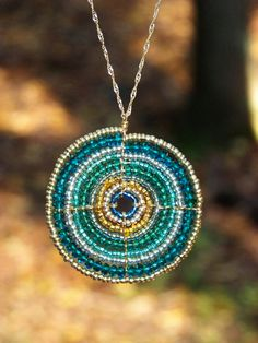 Teal and Gold Maasai (African) Beadwork Necklace (large). $30.00, via Etsy. #etsy #handmade #hieropice #hearthandmade #african #maasai #masai