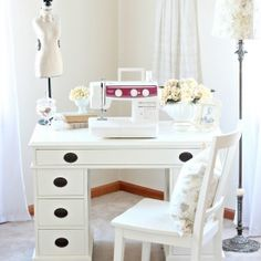"This thrift store desk got a little makeover with paint. Come see the ""before"" picture  find out how I did it!"