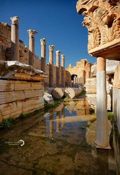 Leptis Magna, Libya. One of the best preserved Roman sites anywhere. On my bucket list, along with Palmyra in Syria. Not just at the moment though...