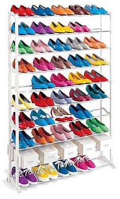 7 of the Best Organizers to Tame Your Out-of-Control Shoe Collection: Shoe Rack - Freestanding Storage for 50 Pairs of Shoes