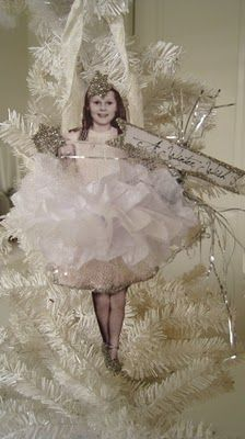 vintage inspired paper doll ornament......this is the creepiest thing ever