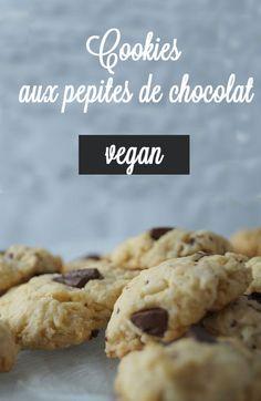 De délicieux cookies vegan aux pépites de chocolat , facile et rapide à faire