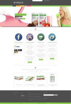Nieuw @OntheWeb Design #website #project opgeleverd! Complete webshop & promo website www.herbalife-gezondevoeding.be