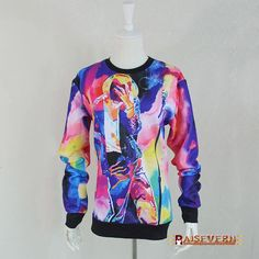 Raisevern new 3D sweatshirt Lana Del Rey/Orange/Cat/Cookies/Sushi print pullovers men/women high street wear wholesales