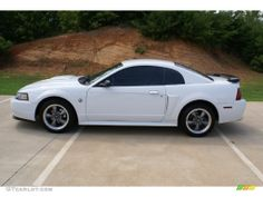 white mustang 2004 | Oxford White 2004 Ford Mustang GT Coupe Exterior Photo #68528866