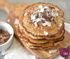 Pancakes met kokos en chocolade