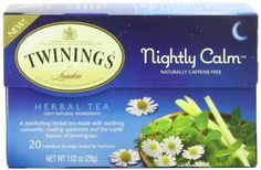 Twinings Herbal Tea, Nightly Calm, 20 Count Bagged Tea (6 Pack) ** Read more at the image link.