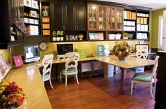 Becky Higgins craft room - I want a space like this!