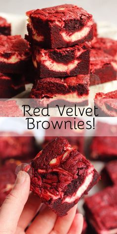 Delicious Red Velvet Brownies with a Vanilla Cheesecake Swirl! Delicious Red Velvet Brownies with a Vanilla Cheesecake Swirl! Smores Dessert, Dessert Dips, Dessert Recipes, Salad Recipes, Easy Desserts, Delicious Desserts, Yummy Food, Italian Desserts, Fun Baking Recipes