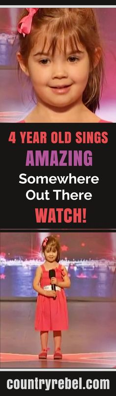 Adorable 4 Year Old Sings Amazing Cover of Somewhere Out There. Country Music Videos at Country Rebel