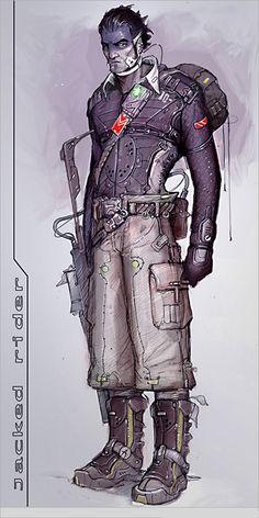Jacked Rider, by Hawkprey James Hawkins, Shadowrun, Cyberpunk, Persona, Deadpool, Batman, Superhero, Inspiration, Fictional Characters