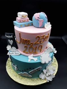 30th Birthday Cake For Women, 25th Birthday Cakes, Bon Voyage Cake, Welcome Home Cakes, Travel Cake, Fantasy Cake, Cupcakes, Holiday Cakes, Love Cake