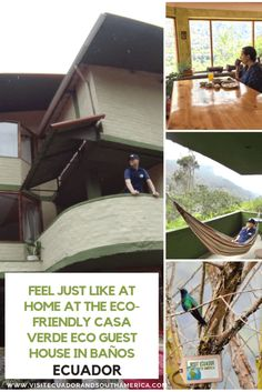 Feel just like at home at the eco-friendly Casa Verde Eco Guest House in Baños, Ecuador - Visit Ecuador and South America Columbia South America, South America Map, America City, Latin America, South America Animals, Best Travel Sites, Enjoy Your Vacation, Just Dream, Eco Friendly House