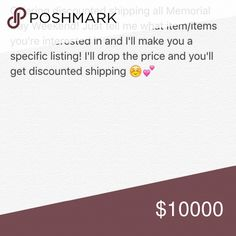 Offering Discounted Shipping On All Items! Choose any item/items and I'll make a customized listing for you! Get the items you want without the high shipping cost ! PINK Victoria's Secret Accessories