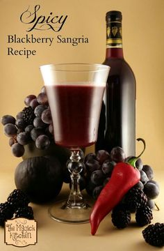 Spicy Blackberry Sangria Recipe, I delicious warm drink for cold autumn days. © 2014, The Magick Kitchen