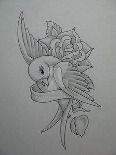 Tattoo Design 2009 2012 Madtattooz Flash Art Done In Tattoo Design Drawings, Art Drawings Sketches Simple, Pencil Art Drawings, Bird Drawings, Beautiful Drawings, Colorful Drawings, Easy Drawings, Graffiti Drawing, Tattoo Flash Art