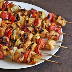 Chicken Tika Masala. Love grilled chicken and veggies on skewers.