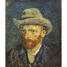 Van Gogh- Self-Portrait With Straw Hat, 1887