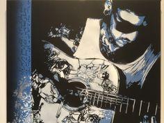Guitariste Pochoir