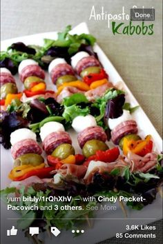 Great for an adult party appetizer : antipasto kabobs
