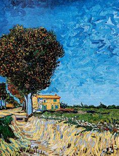 Vincent Van Gogh - Post Impressionism - Arles - Ferme au bord de la grande route - 1888