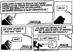 Wiggett reports that Prasa has come up with a new plan for the tall trains. Herald Port Elizabeth - room for more corruption?