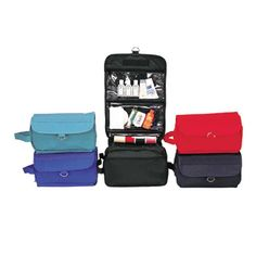 b1100430e5 Poly Backing Hanging Toiletry Bag - Hanging toiletry bag great for travels.  Velcro closure