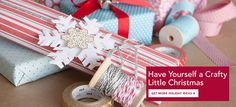 Festive colors and simple prints + holiday motifs = beautiful gift wrap